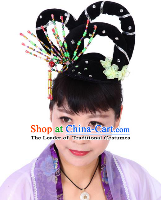 Chinese Traditional Classical Dance Hair Accessories Peking Opera Actress Hairpins Headwear for Women