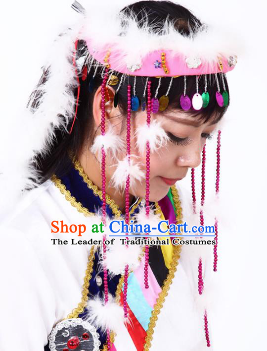 Chinese Traditional Classical Dance Hair Accessories Uyghur Nationality Dance Tassel Headwear for Women
