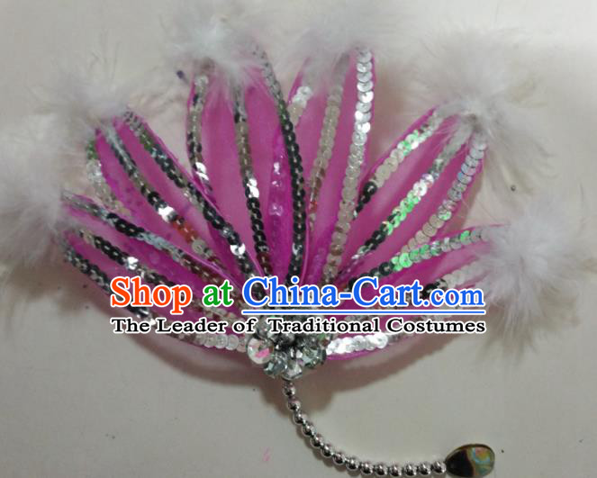 Chinese Classical Dance Hair Accessories Traditional Folk Dance Yanko Dance Dandelion Headwear for Women