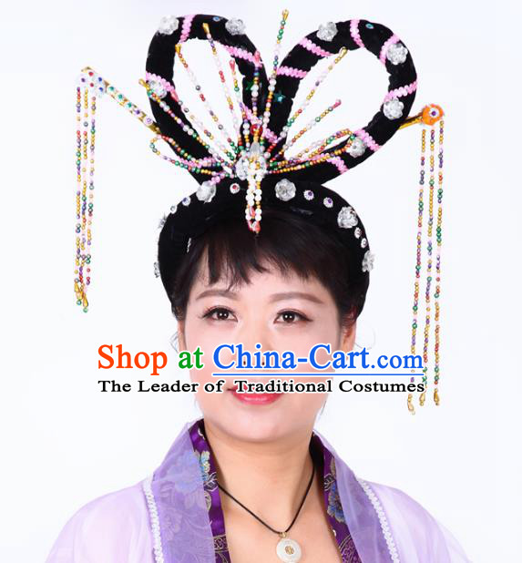 Chinese Traditional Classical Dance Hair Accessories Ancient Beijing Opera Actress Hairpins Headwear for Women