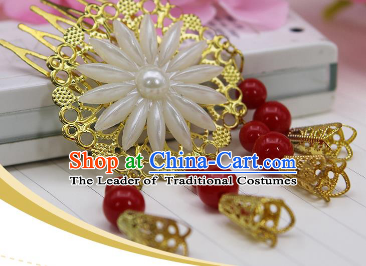 Chinese Ancient Hair Accessories Hanfu Hairpins Hair Comb Traditional Queen Headwear for Women