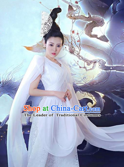 Traditional Chinese Ancient Swordswoman Costume Tang Dynasty Palace Princess Hanfu Dress for Women