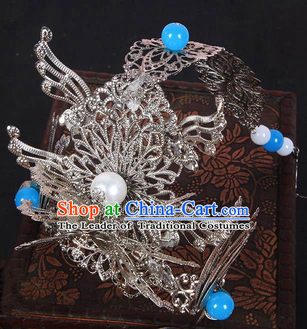 Chinese Ancient Hair Accessories Hanfu Hairpins Phoenix Coronet Traditional Palace Headwear for Women