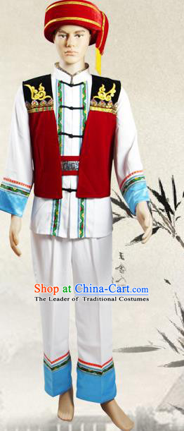 Traditional Chinese Yao National Minority Costumes, China Ethnic Minority Embroidery Clothing for Men