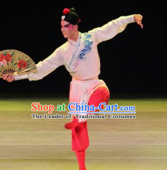 Traditional Chinese Folk Dance Embroidered Costume, China Beijing Opera Dance Clothing for Men