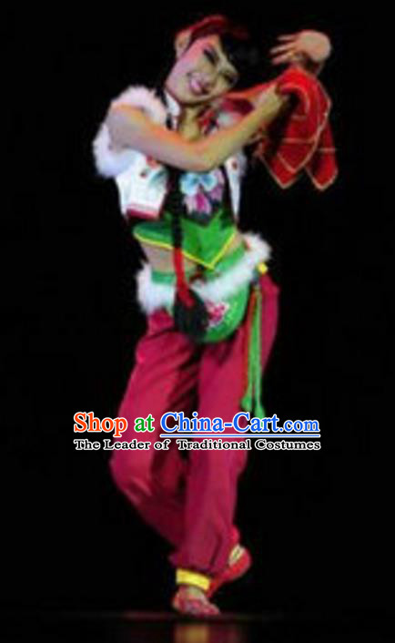 Traditional Chinese Yangko Dance Costume, Folk Dance Yangge Dance Clothing for Women