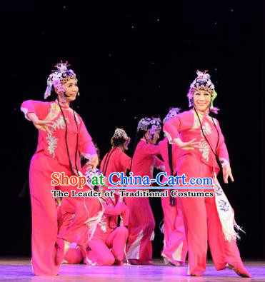 Chinese Traditional Folk Dance Beijing Opera Costume, China Classical Dance Dress Stage Performance Clothing for Women