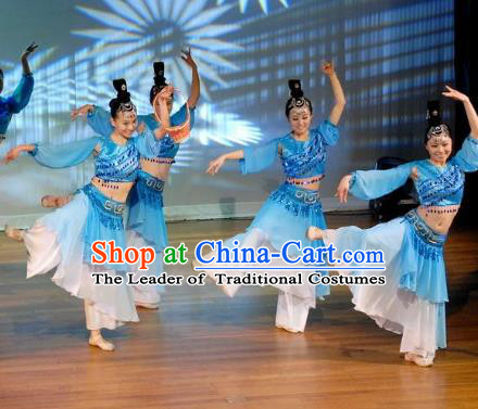 Traditional Chinese Ancient Dance Costume, China Folk Dance Classical Dance Dress for Women