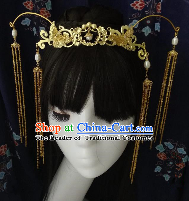 Chinese Traditional Ancient Hair Accessories Classical Phoenix Coronet Hanfu Hairpins for Women