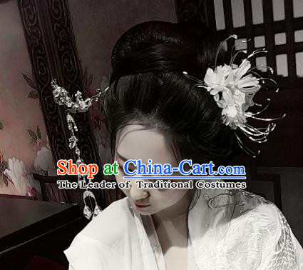 Chinese Traditional Ancient Hair Accessories Classical Equinox Flower Hair Clips Hanfu Hairpins for Women