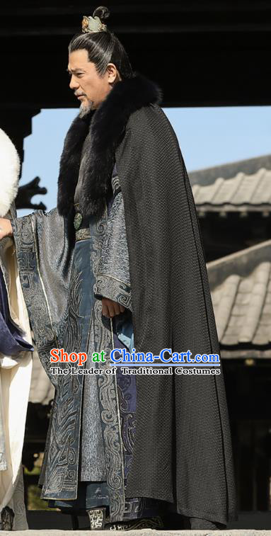 Nirvana in Fire II Chinese Ancient General Hanfu Military Officer Xiao Tingsheng Embroidered Historical Costumes for Men