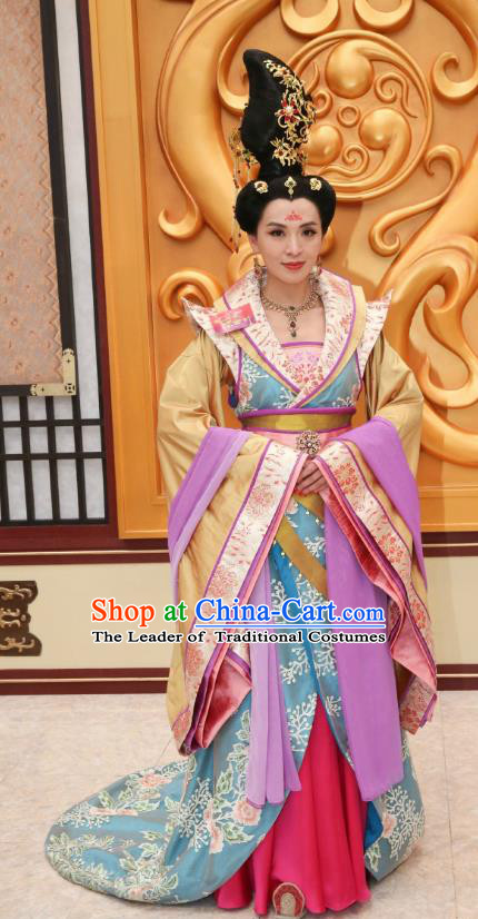 Chinese Ancient Palace Princess Hanfu Dress Tang Dynasty Princess Taiping Embroidered Historical Costumes for Women