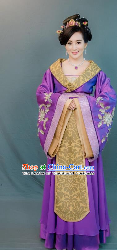 Chinese Ancient Palace Maidservant Hanfu Dress Tang Dynasty Las Meninas Embroidered Costumes for Women