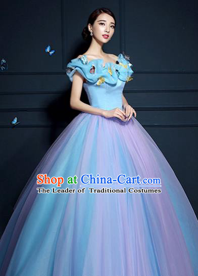 Top Grade Advanced Customization Wedding Dress Princess Dress Bridal Full Dress Costume for Women