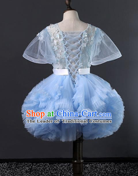 Top Grade Stage Performance Catwalks Costumes Children Halloween Cosplay Princess Full Dress Chorus Modern Fancywork Clothing