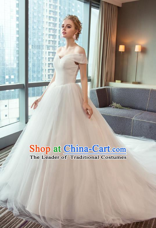 Stunning Chinese Bridal Wedding Dress and Veil