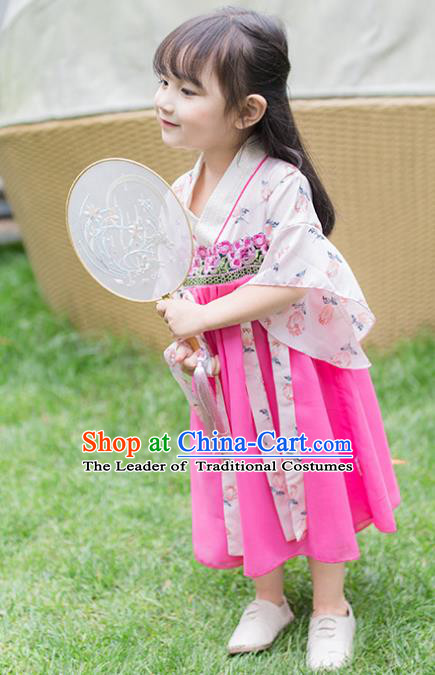Chinese Ancient Costume Children Hanfu Dress Classical Dance Stage Performance Clothing for Kids