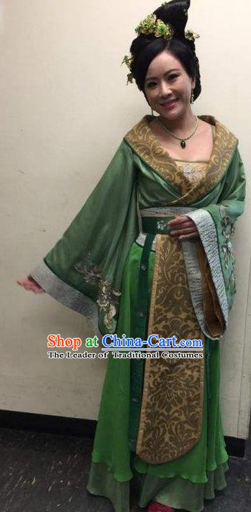 Chinese Tang Dynasty Court Lady Hanfu Dress Ancient Maidservant Embroidered Costumes for Women