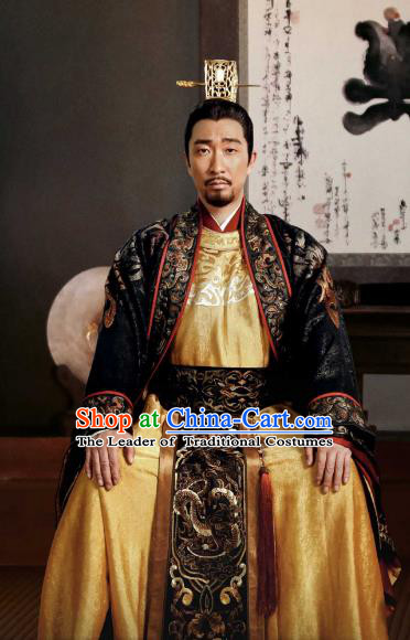 Tribes and Empires Storm of Prophecy Chinese Ancient Royal Highness Embroidered Costumes for Men