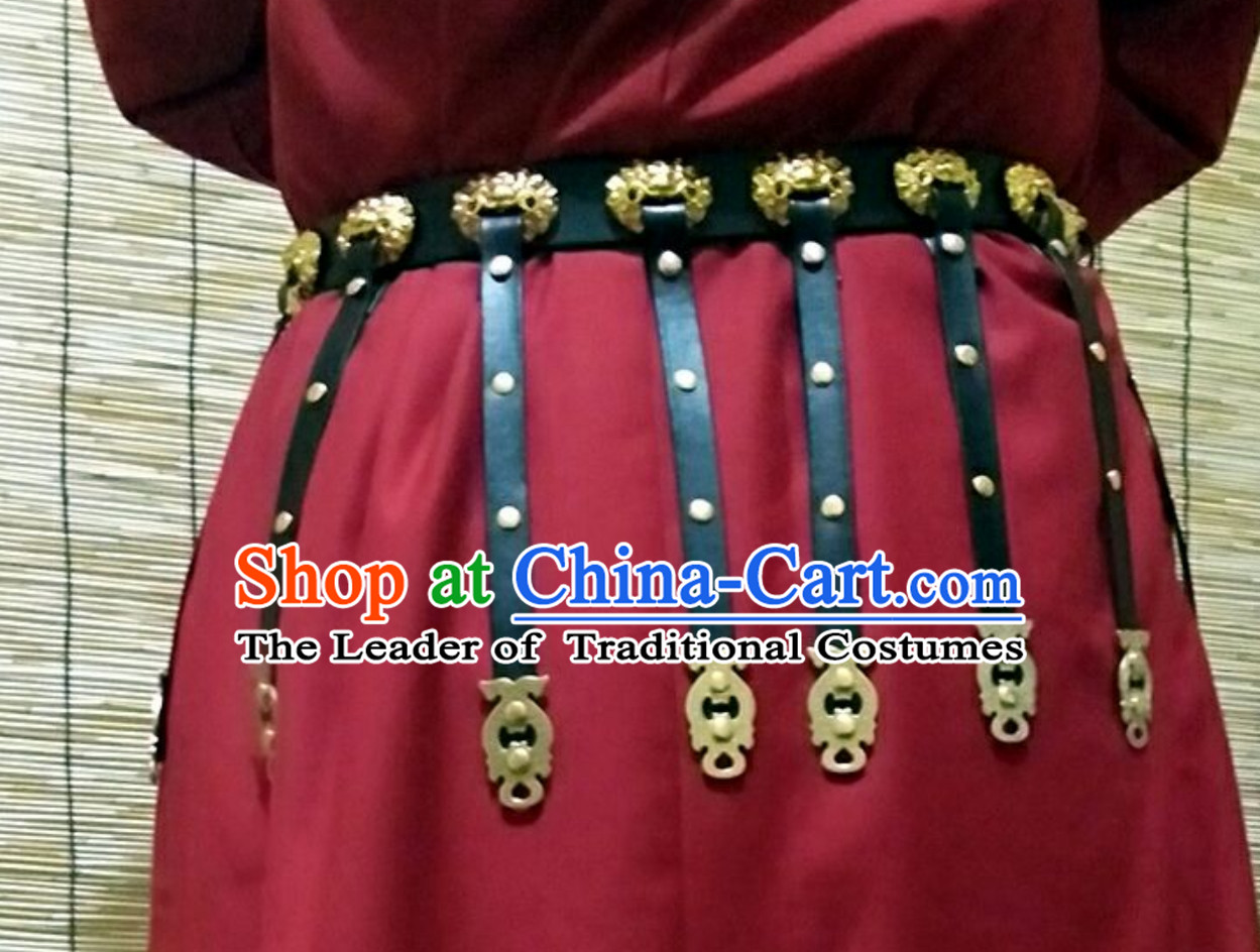 Ancient Chinese People Handmade Long Belt Set to Go with Long Robe