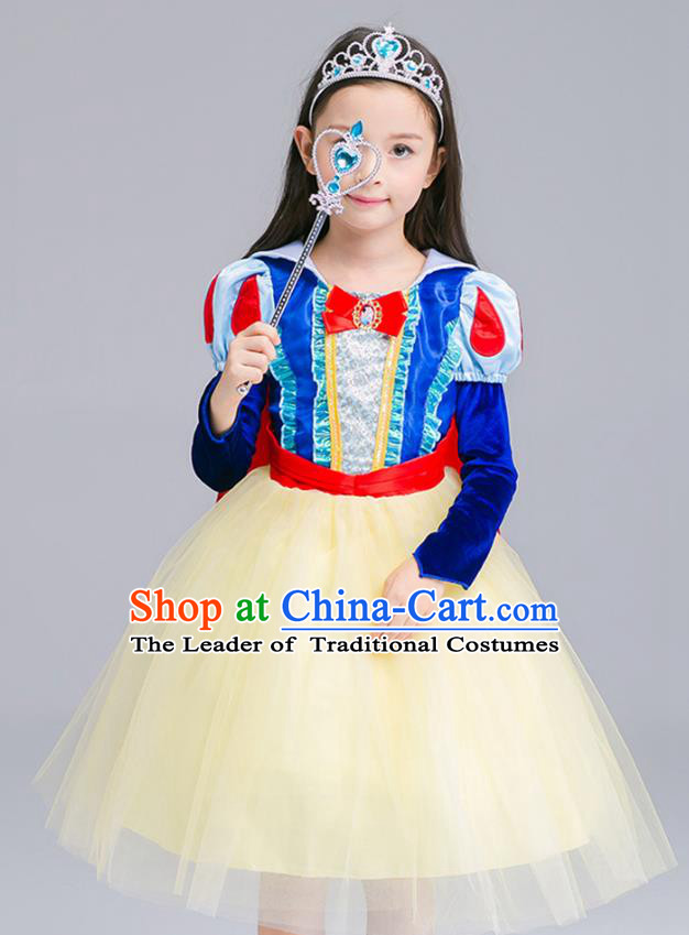 Top Grade Halloween Costumes Stage Performance Princess Full Dress Children Modern Dance Clothing for Kids