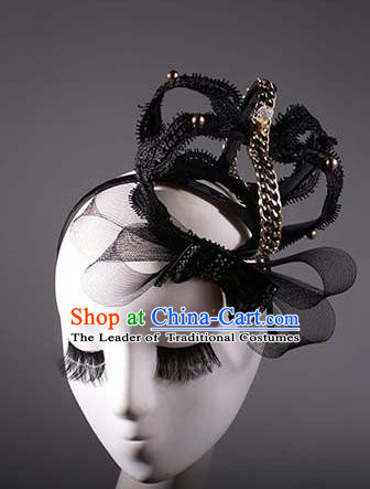 Top Grade Halloween Queen Hair Accessories Baroque Royal Crown Stage Performance Modern Fancywork Headwear