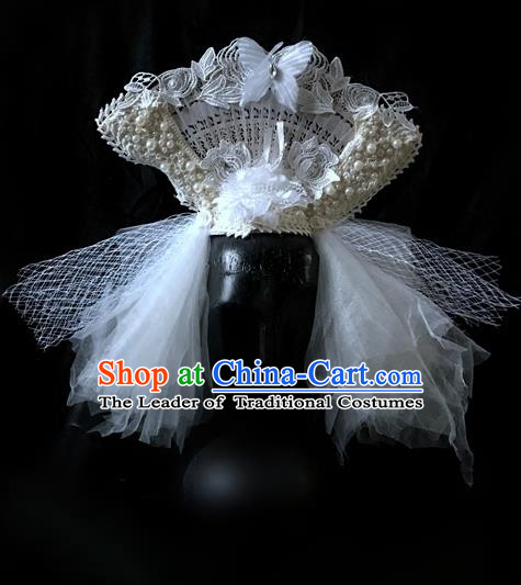 Top Grade Catwalks Hair Accessories Exaggerated Baroque Bride Hair Clasp Modern Fancywork Headwear