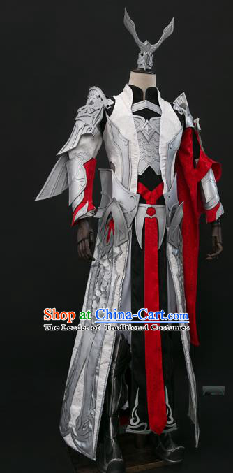 China Ancient Cosplay Swordsman General Costumes Chinese Traditional Knight-errant Clothing for Men
