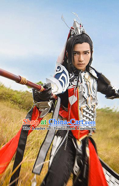 China Ancient Cosplay General Swordsman Costumes Chinese Traditional Armour Knight-errant Clothing for Men