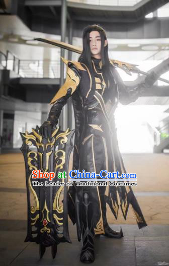 Traditional China Ancient Cosplay General Swordsman Costumes Chinese Knight-errant Clothing for Men