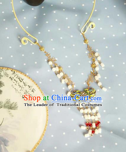 China Ancient Palace Accessories Classical Necklace Chinese Traditional Hanfu Necklet for Women