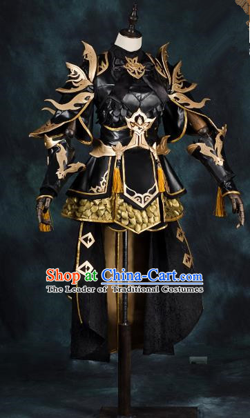 China Ancient Cosplay Female General Swordsman Costumes Chinese Traditional Warriors Knight-errant Clothing for Women