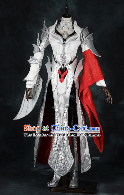 China Ancient Cosplay Female General Armour Knight-errant Costumes Chinese Traditional Swordsman Clothing for Women