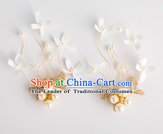 Bride Hair Accessories Princess Flowers Hair Claws Classical Wedding Crystal Hair Stick for Women