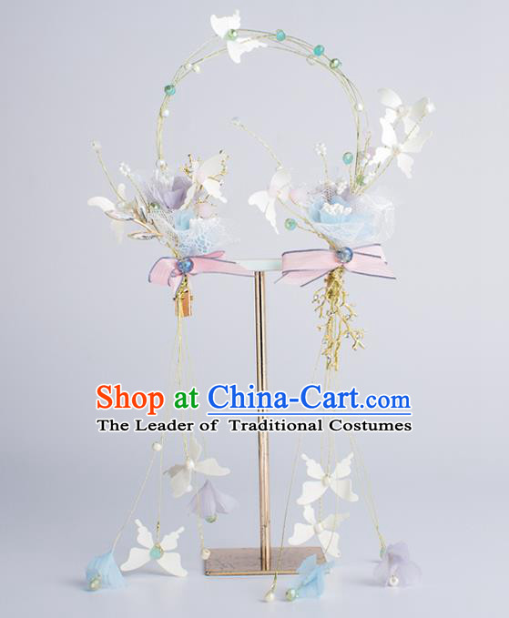 Bride Hair Accessories Wedding Butterfly Hair Clasp Headband for Women