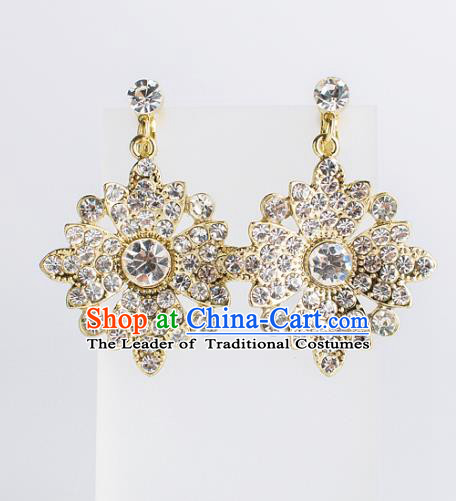 Bride Classical Accessories Earrings Pendant Wedding Crystal Eardrop for Women