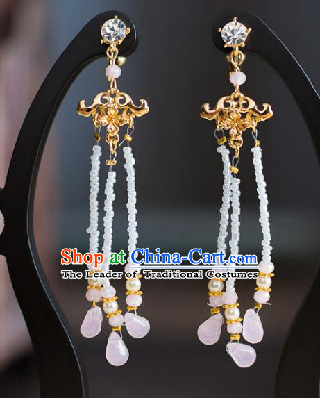 Bride Classical Accessories Long Tassel Earrings Wedding Jewelry Hanfu Eardrop for Women