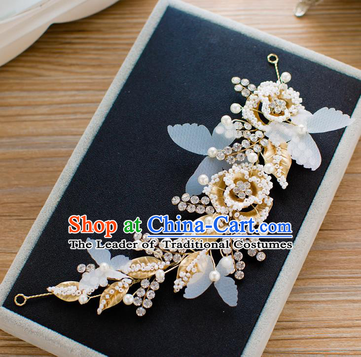 Top Classical Bride Hair Accessories Wedding Beads Hair Stick Headwear for Women