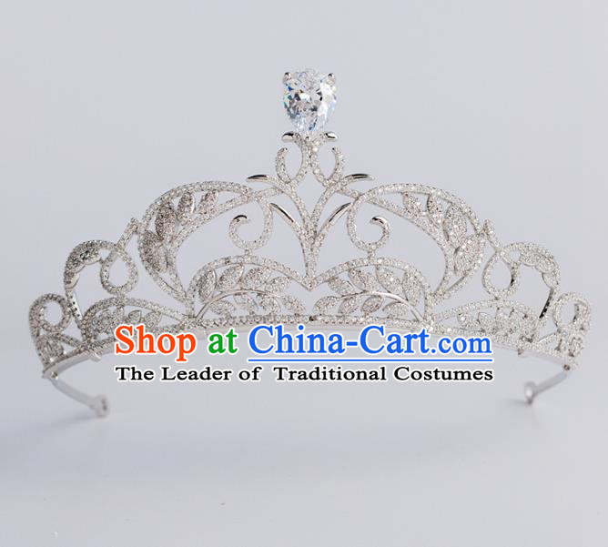 Baroque Princess Royal Crown Bride Classical Hair Accessories Wedding Zircon Imperial Crown for Women