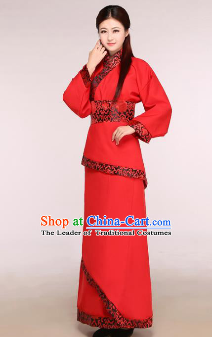 Chinese Traditional Wedding Hanfu Dress Ancient Han Dynasty Princess Costume for Women