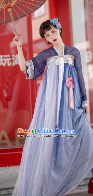 Chinese Ancient Princess Traditional Hanfu Dress China Tang Dynasty Costumes Complete Set