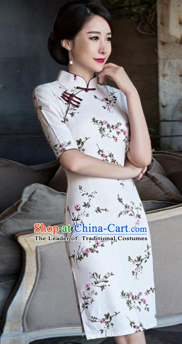 Top Grade Chinese Elegance Qipao Dress National Costume Traditional Mandarin Cheongsam for Women