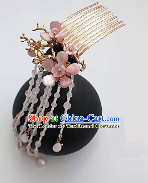 Traditional Handmade Chinese Ancient Classical Hair Accessories Hairpins Tassel Hair Comb for Women