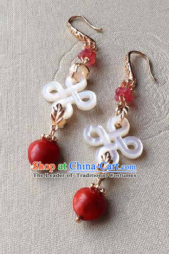Traditional Handmade Chinese Ancient Classical Accessories Hanfu Earrings for Women