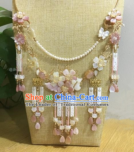 Traditional Handmade Chinese Ancient Classical Accessories Hanfu Tassel Necklace for Women