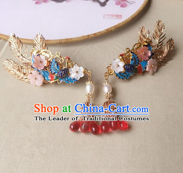 Traditional Handmade Chinese Ancient Classical Hair Accessories Hairpins Phoenix Hair Claws for Women