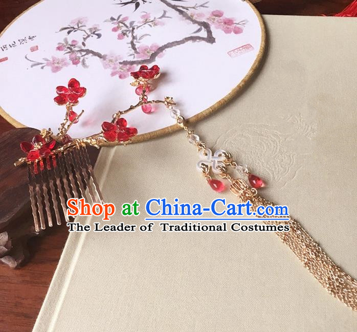 Traditional Handmade Chinese Ancient Classical Hair Accessories Hairpins Tassel Hair Combs for Women
