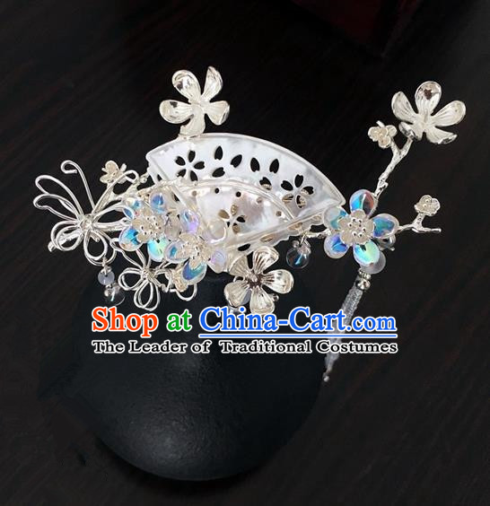 Traditional Handmade Chinese Ancient Classical Hair Accessories Shell Hair Clip Hairpins for Women
