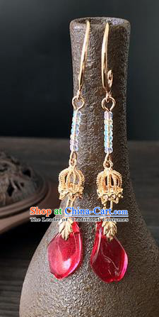 Traditional Handmade Chinese Ancient Classical Accessories Long Tassel Earrings for Women