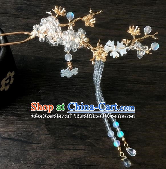 Traditional Handmade Chinese Ancient Classical Hair Accessories Beads Tassel Hanfu Hairpins for Women